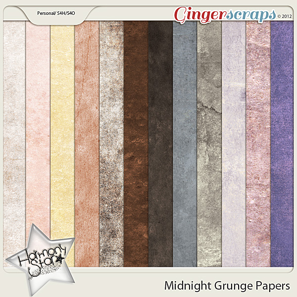 Midnight Grunge Papers