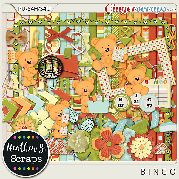 B-I-N-G-O KIT by Heather Z Scraps