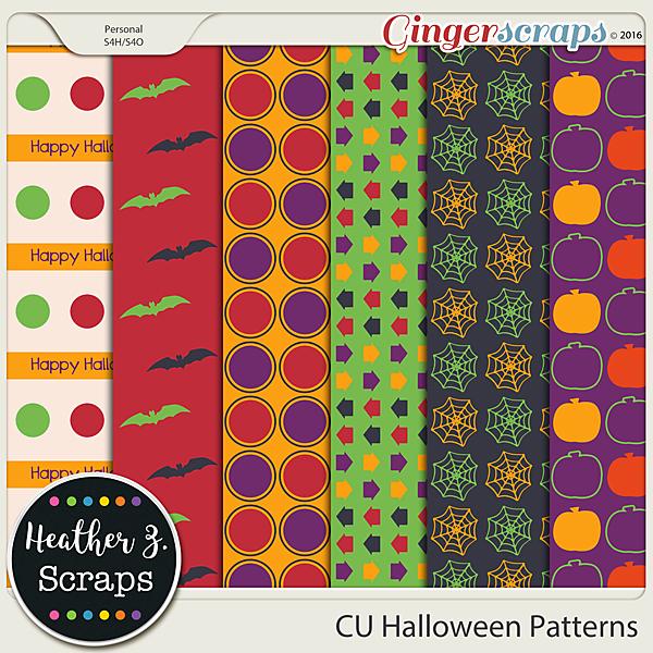 CU Halloween PATTERNS by Heather Z Scraps