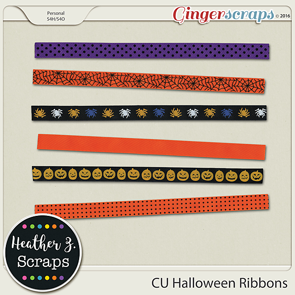 CU Halloween RIBBONS by Heather Z Scraps