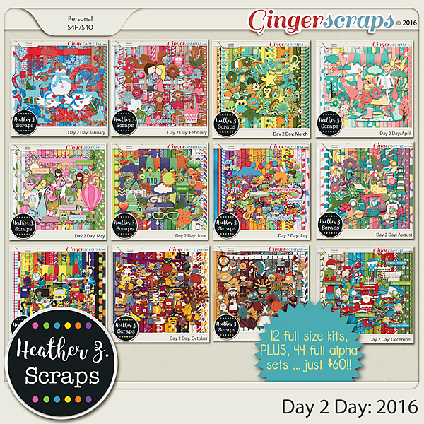 Day 2 Day: 2016 MEGA COLLECTION by Heather Z Scraps