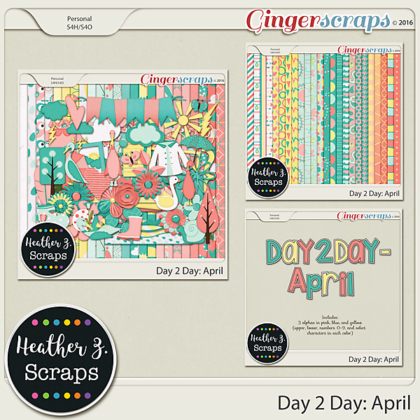 Day 2 Day: April BUNDLE by Heather Z Scraps