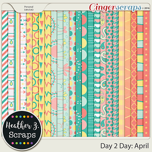 Day 2 Day: April EXTRA PAPERS by Heather Z Scraps