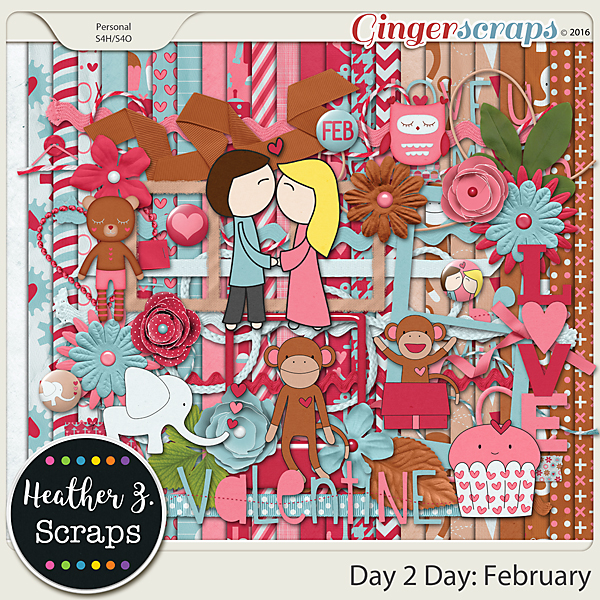 Day 2 Day: February KIT by Heather Z Scraps