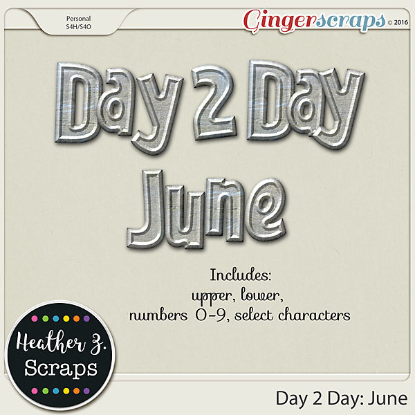 Day 2 Day: June METAL ALPHA by Heather Z Scraps