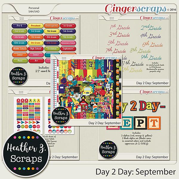 Day 2 Day: September BUNDLE by Heather Z Scraps