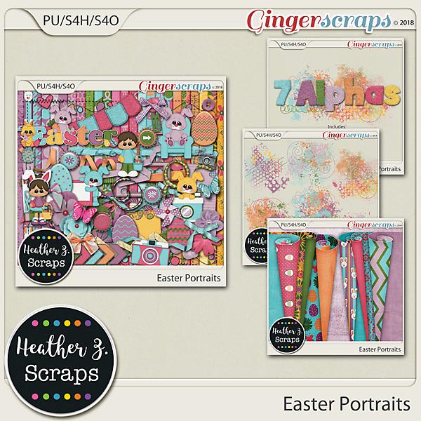 Easter Portraits BUNDLE by Heather Z Scraps