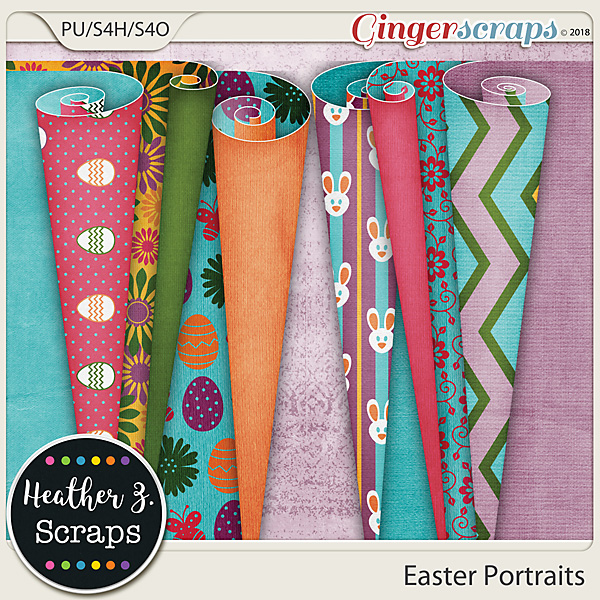 Easter Portraits PAGE CURLS by Heather Z Scraps