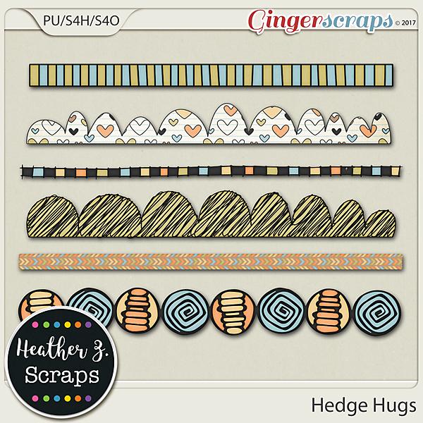 Hedge Hugs BORDERS by Heather Z Scraps