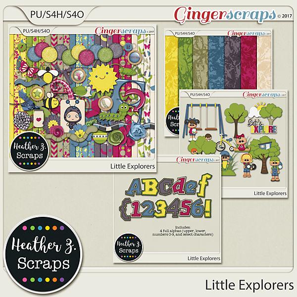 Little Explorers BUNDLE by Heather Z Scraps