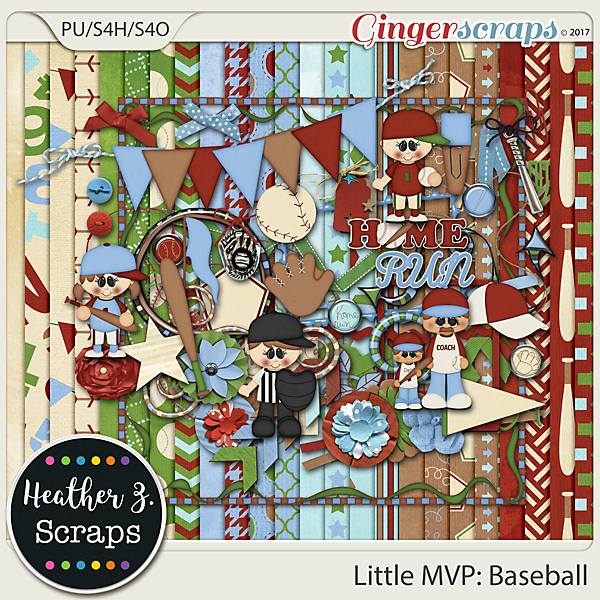 Little MVP: Baseball KIT by Heather Z Scraps
