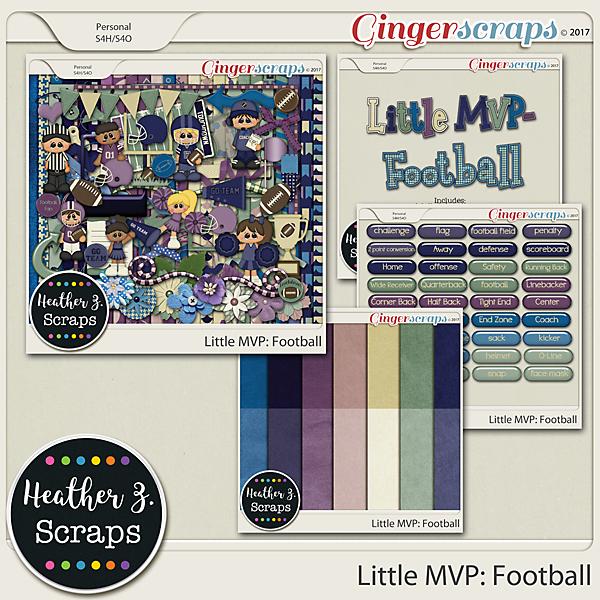 Little MVP: Football BUNDLE by Heather Z Scraps