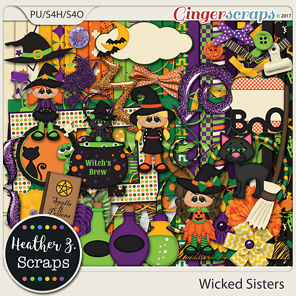 Wicked Sisters KIT by Heather Z Scraps