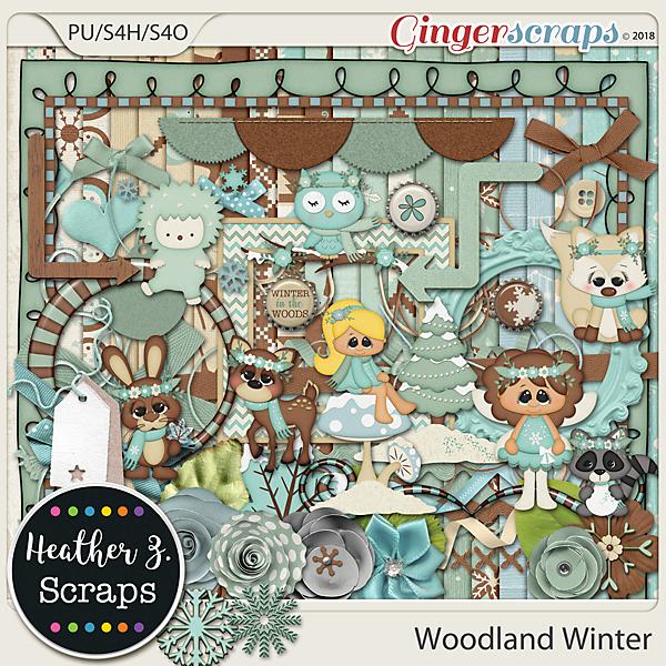 Woodland Winter KIT by Heather Z Scraps