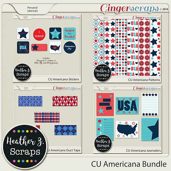 CU Americana BUNDLE by Heather Z Scraps