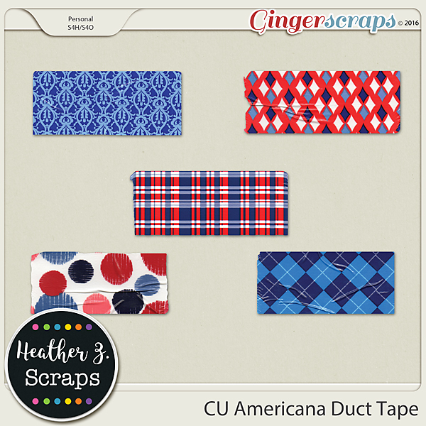 CU Americana DUCT TAPE by Heather Z Scraps