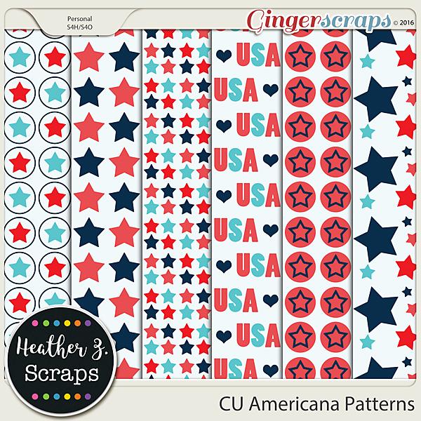 CU Americana PAPER TEMPLATES by Heather Z Scraps