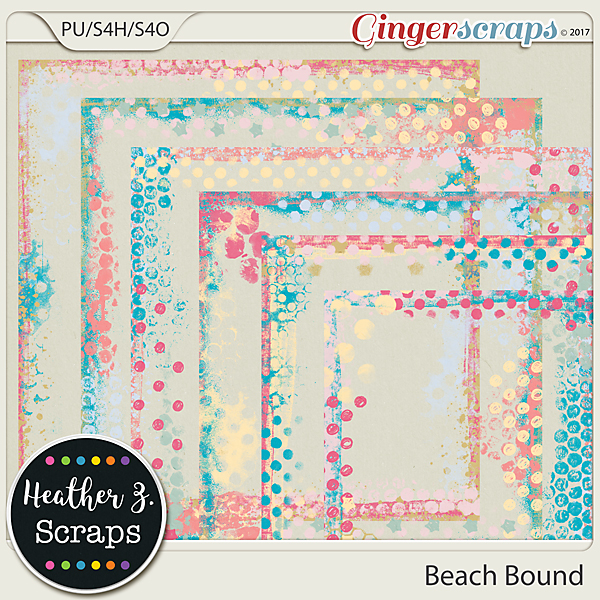 Beach Bound PAINTED BORDERS by Heather Z Scraps