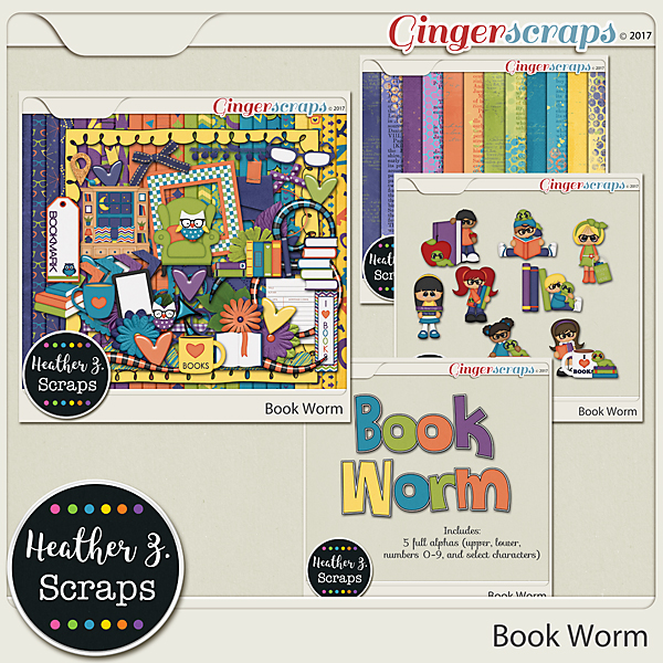 Book Worm BUNDLE by Heather Z Scraps