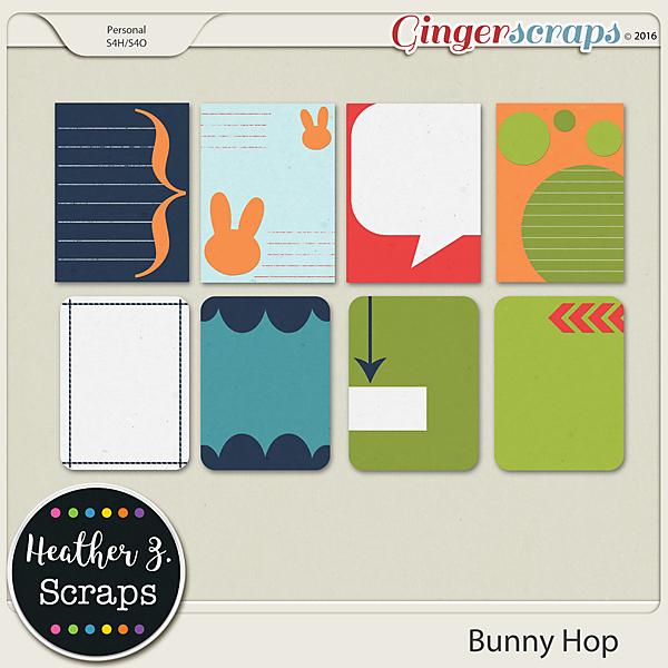 Bunny Hop {Journal Cards}