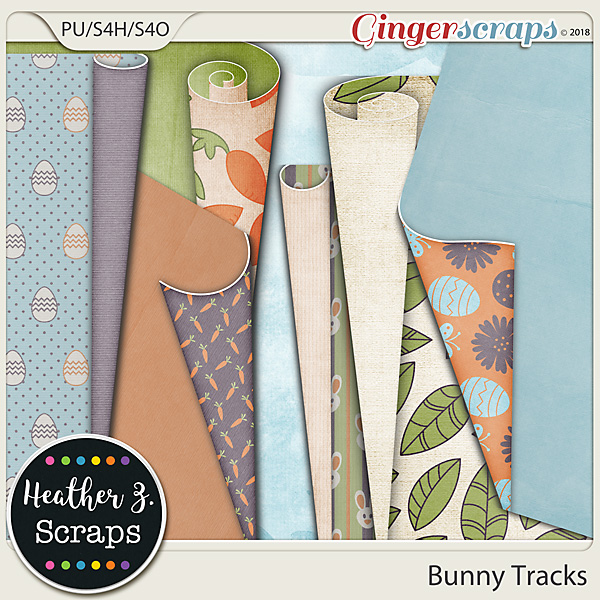 Bunny Tracks PAGE CURLS by Heather Z Scraps