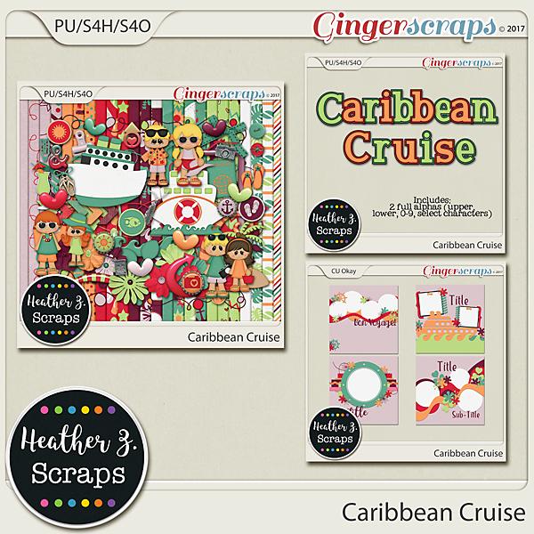 Caribbean Cruise BUNDLE by Heather Z Scraps