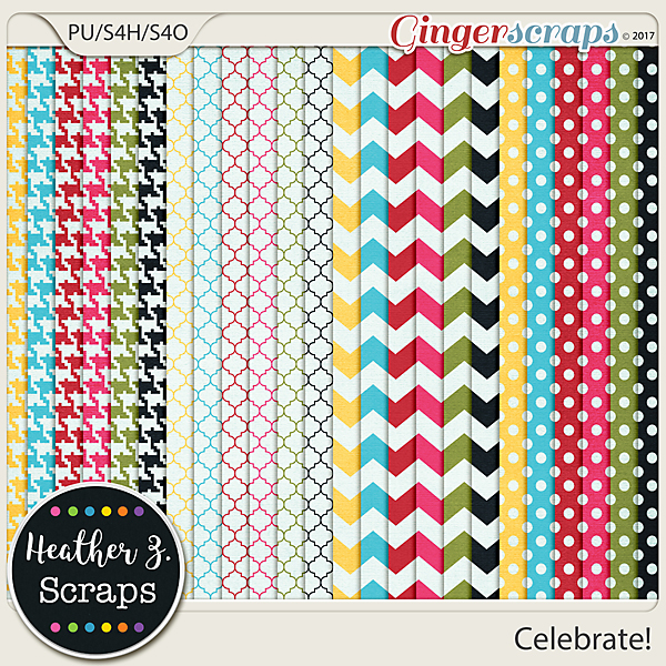 Celebrate! EXTRA PAPERS by Heather Z Scraps