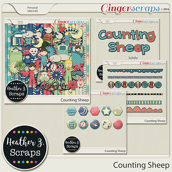 Counting Sheep BUNDLE by Heather Z Scraps
