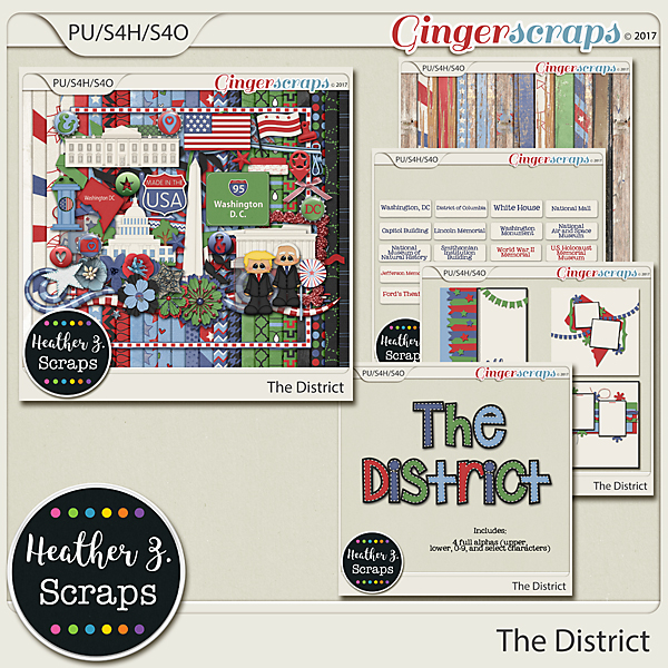 The District BUNDLE by Heather Z Scraps