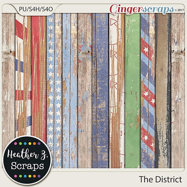 The District WEATHERED WOOD by Heather Z Scraps