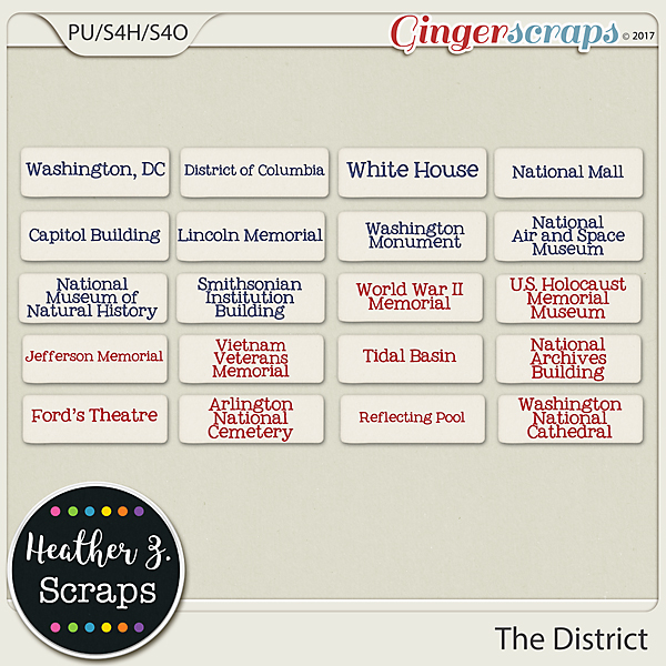 The District WORD BITS by Heather Z Scraps