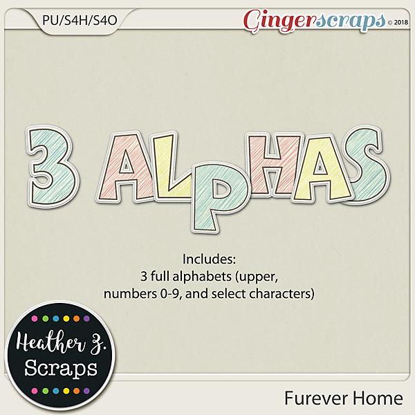 Furever Home ALPHABETS by Heather Z Scraps