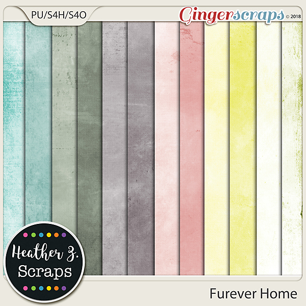 Furever Home SOLIDS by Heather Z Scraps