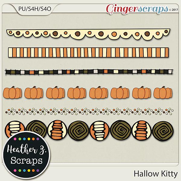 Hallow Kitty BORDERS by Heather Z Scraps