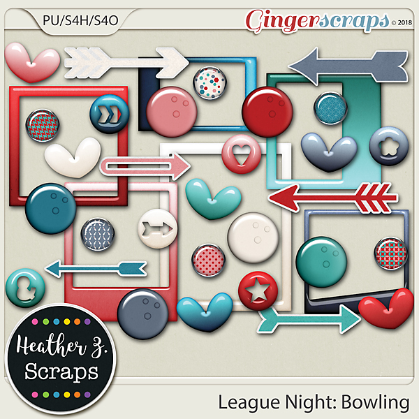 League Night: Bowling ACCENTS by Heather Z Scraps