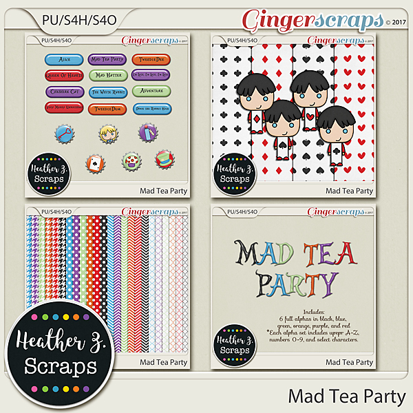 Mad Tea Party ADD-ONS by Heather Z Scraps
