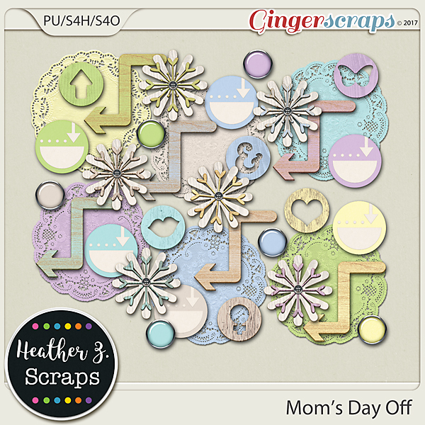 Mom's Day Off ACCENTS by Heather Z Scraps