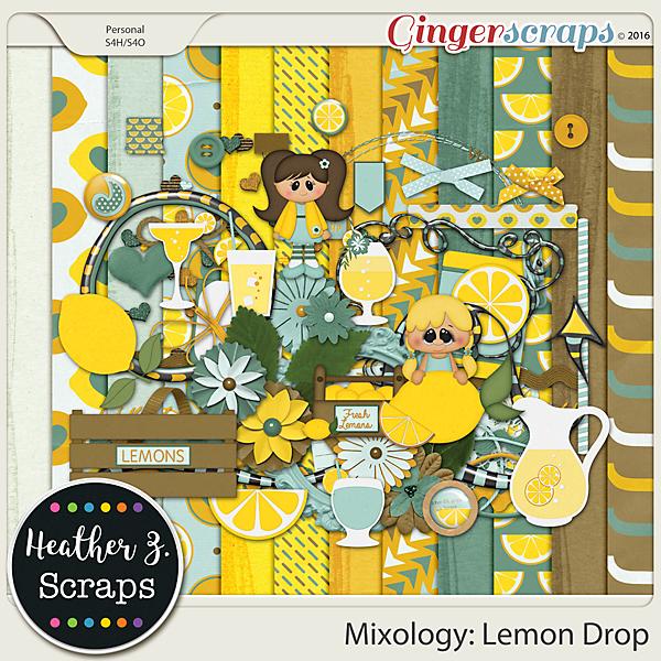 Mixology: Lemon Drop KIT by Heather Z Scraps
