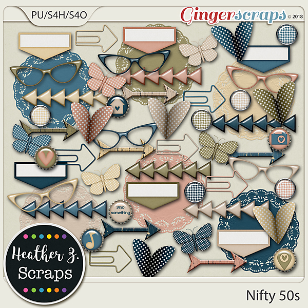 Nifty 50s ACCENTS by Heather Z Scraps