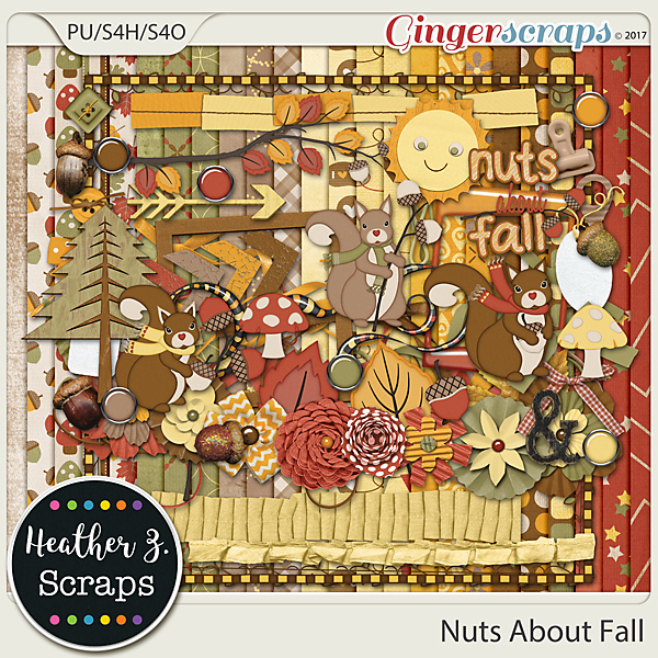 Nuts About Fall KIT by Heather Z Scraps