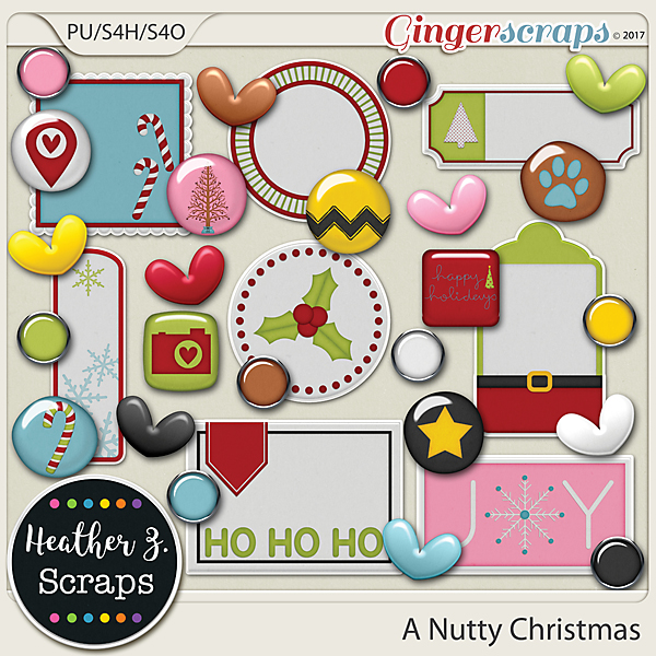 A Nutty Christmas ACCENTS by Heather Z Scraps