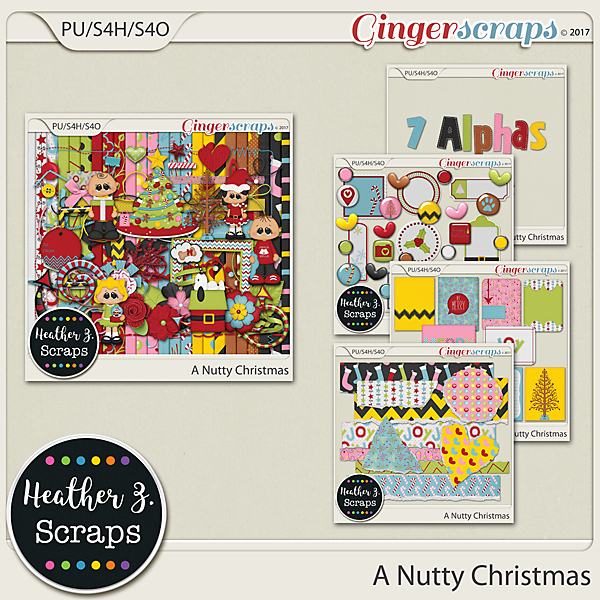A Nutty Christmas BUNDLE by Heather Z Scraps