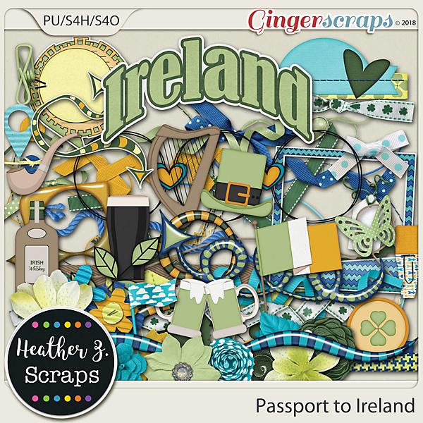 Passport to Ireland ELEMENTS by Heather Z Scraps