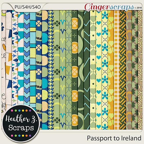 Passport to Ireland PAPERS by Heather Z Scraps