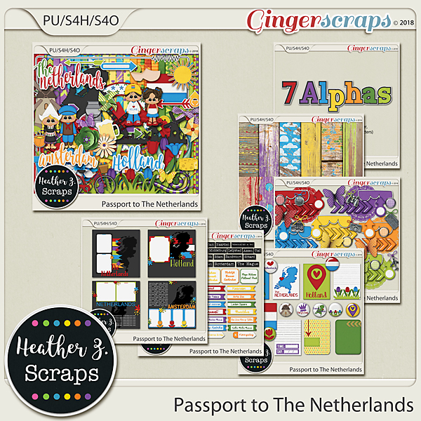 Passport to The Netherlands BUNDLE by Heather Z Scraps