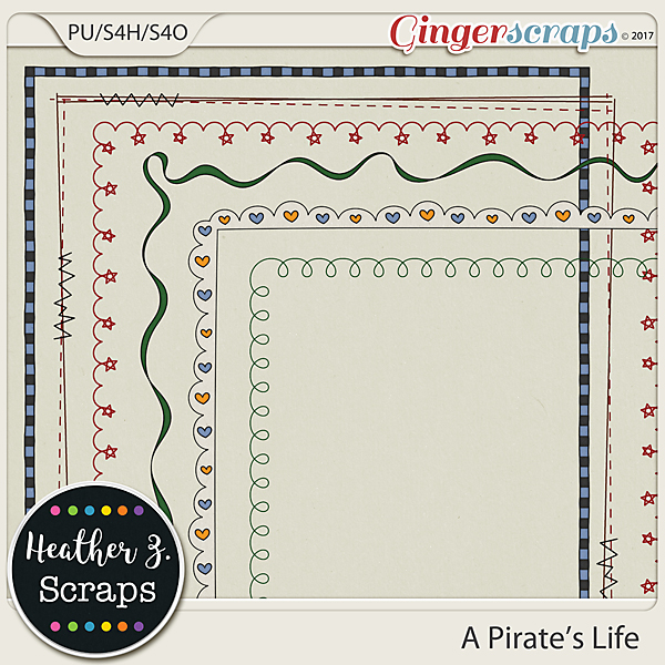 A Pirate's Life BORDERS by Heather Z Scraps