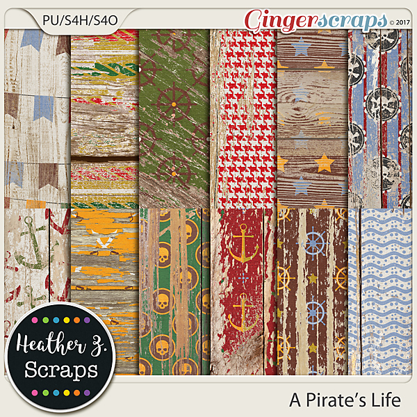 A Pirate's Life WEATHERED WOOD by Heather Z Scraps