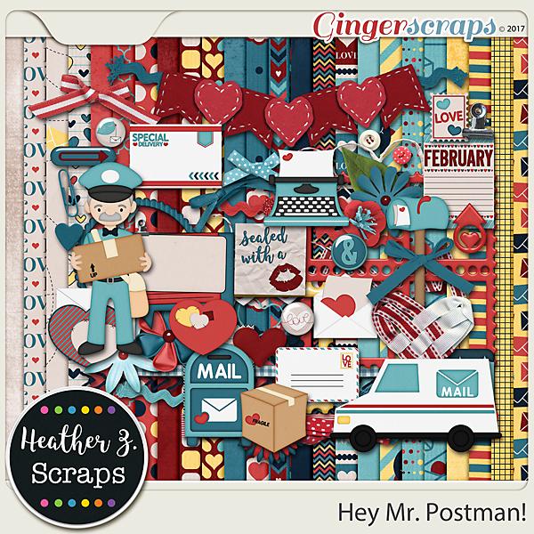 Hey Mr Postman KIT by Heather Z Scraps