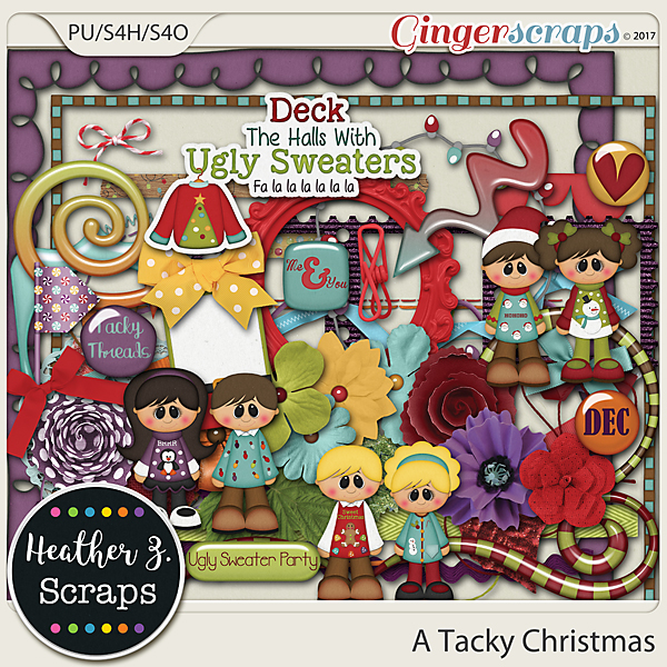 A Tacky Christmas ELEMENTS by Heather Z Scraps