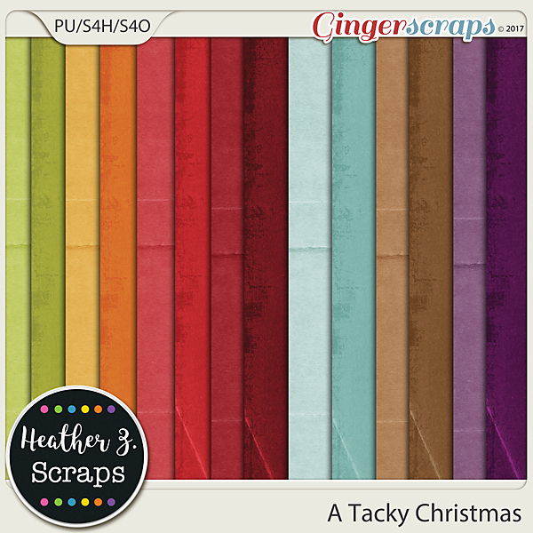 A Tacky Christmas SOLIDS by Heather Z Scraps